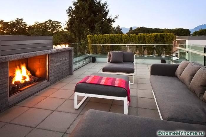 На крыше можно обустроить место для отдыха