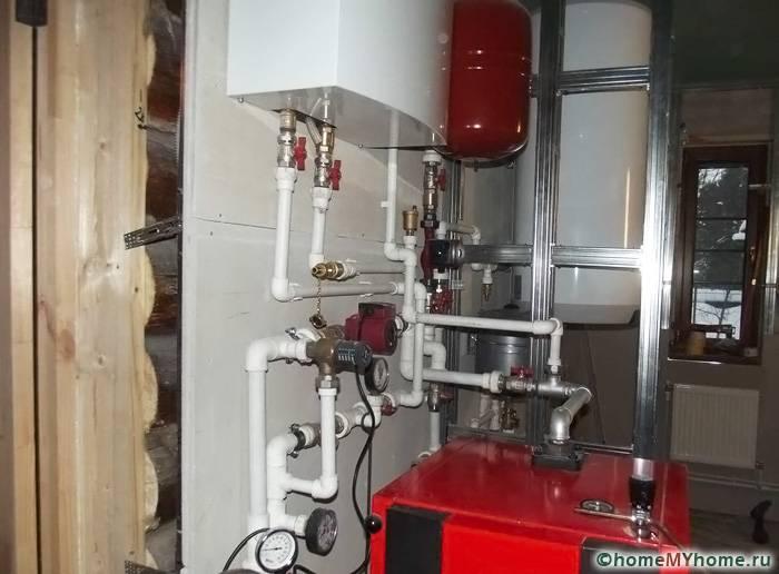 Типичное оборудование, используемое для водяного отопления