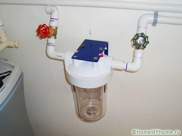 Монтаж установок для проточной воды производится непосредственно в трубы