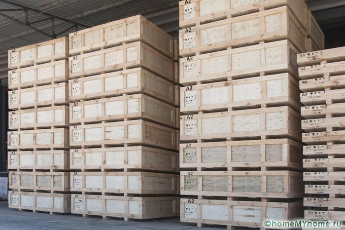 Складирование готовой запакованной продукции