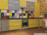 Фартуки для кухни, скинали: фото