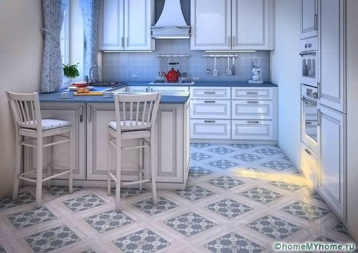 Напольная плитка для кухни: фото и цены