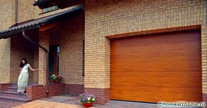 Секционные ворота в гараж: размеры и цена