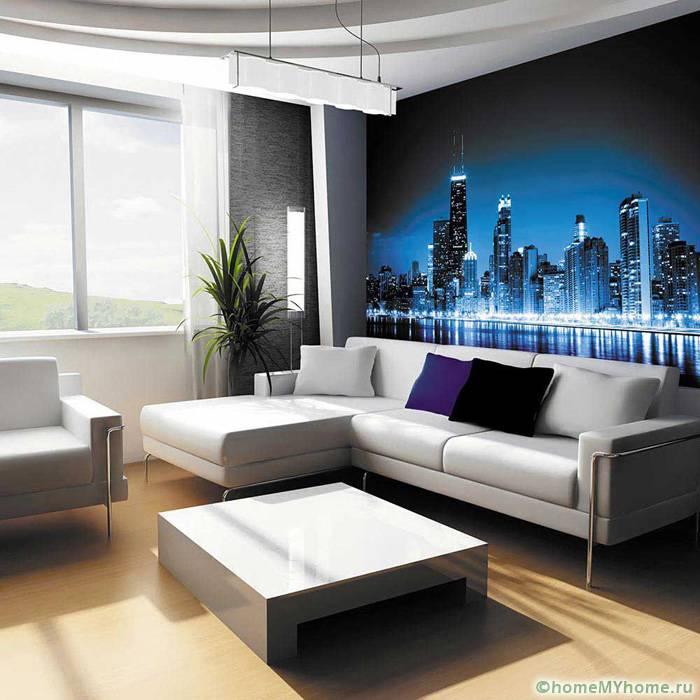 Снимки мегаполисов подходят для современных интерьеров, которые обычно подбирают активные и занятые люди