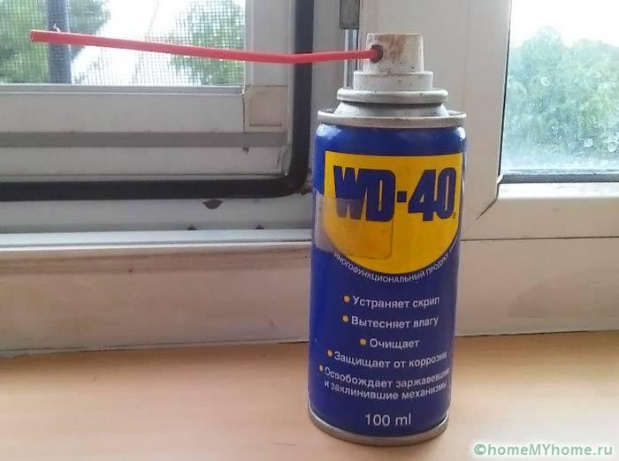 Подходящее средство для осуществления смазки механизмов окна