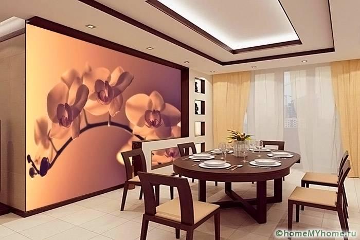 Определенные изображения могут создать практически домашнюю обстановку в любом ресторане
