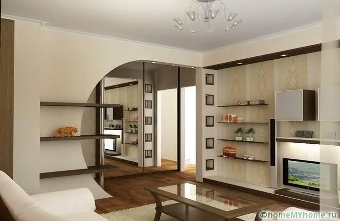 Интересные варианты изменения помещения выполняются с помощью интересных перегородок