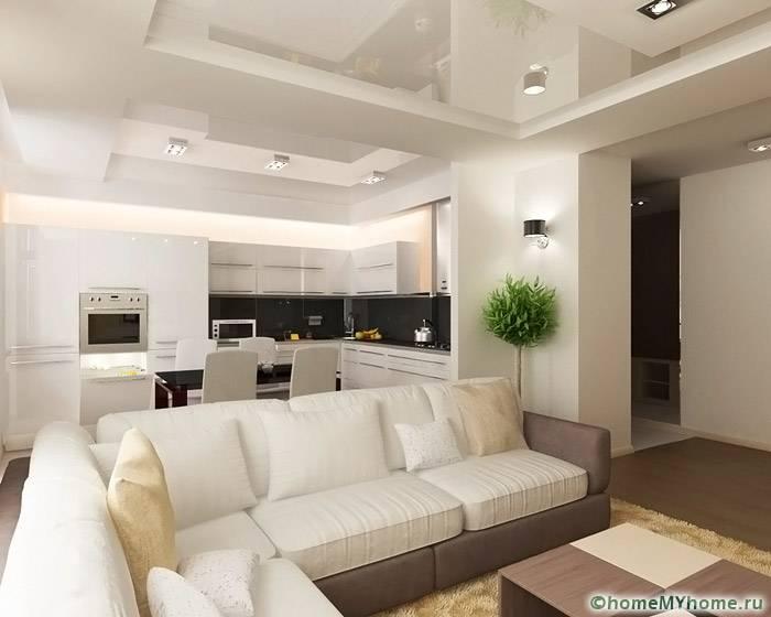 Совмещенное пространство в современном интерьере смотрится стильно. Подобные решения подходят даже для маленьких помещений