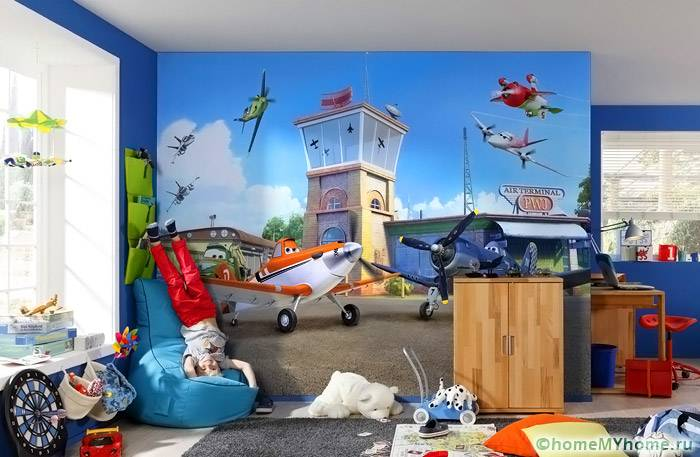 Фотообои в детской создают игровую атмосферу