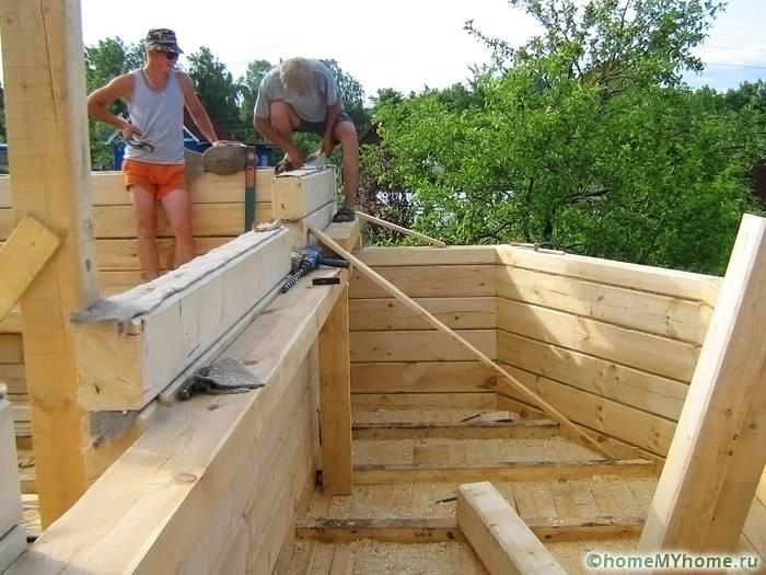 Процесс возведения строения сложной конфигурации