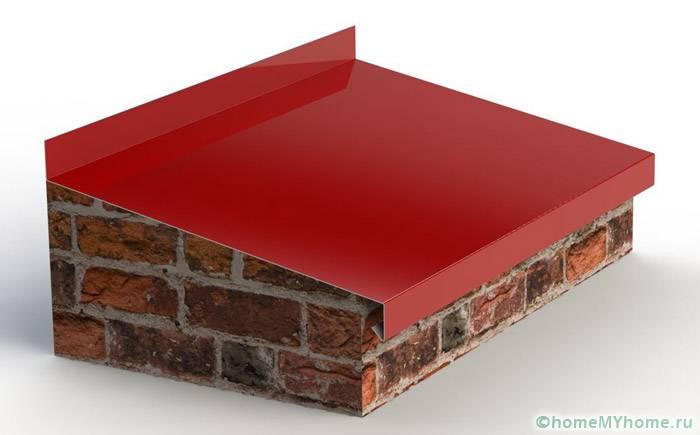 Стандартная металлическая планка классического цветового решения