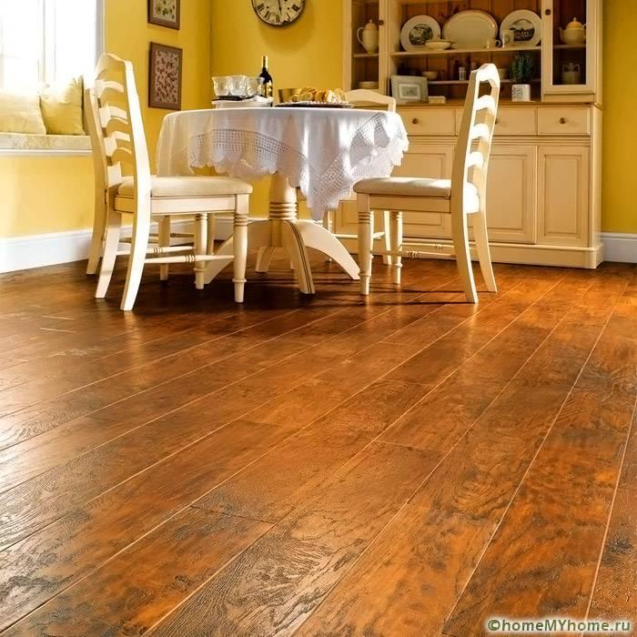Кварц - виниловое покрытие может имитировать деревянный пол
