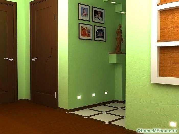 Светло-зеленый цвет освежает интерьер