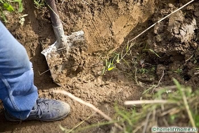Ведутся земельные работы по устройству водоотвода