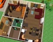 Планировка дома 8 на 8 двухэтажный