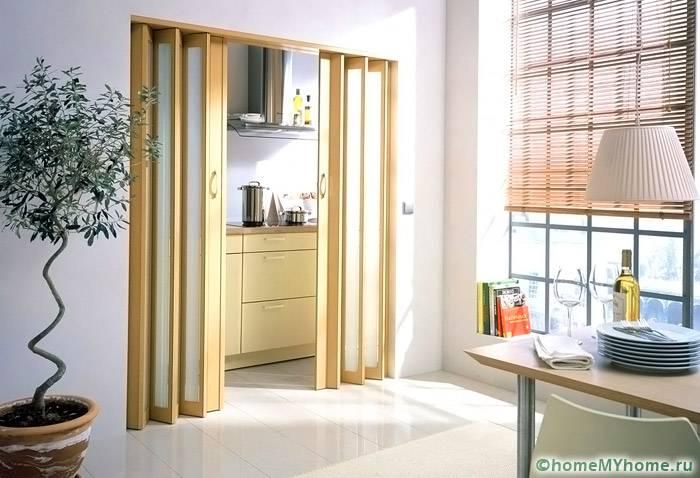 Межкомнатные двери гармошка. фото и цены