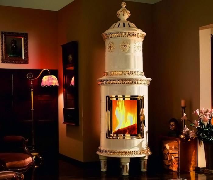 Роскошная печь из керамики стоит дорого