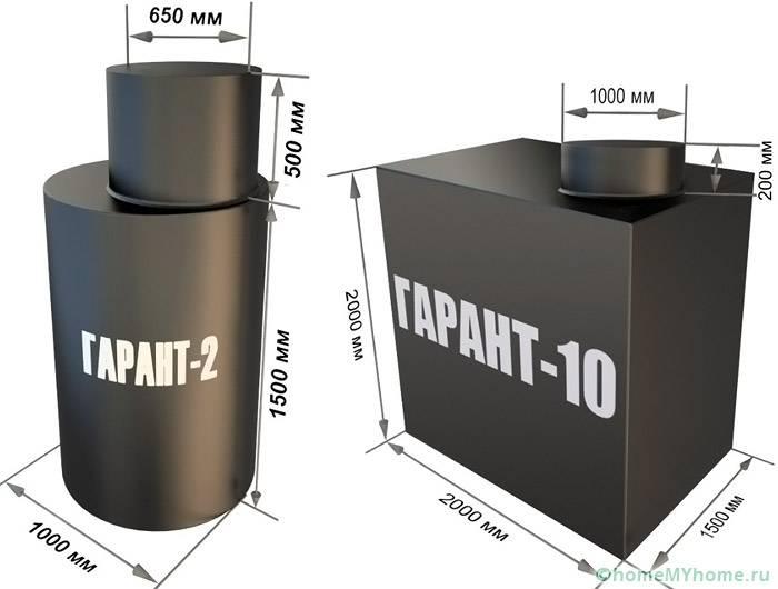 Представлены размеры популярных моделей Гарант