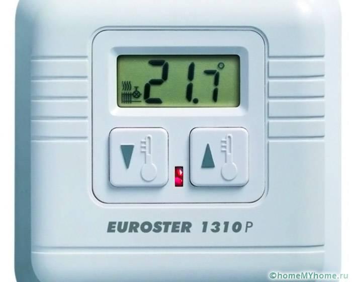 Современные терморегуляторы оборудуются небольшим дисплеем