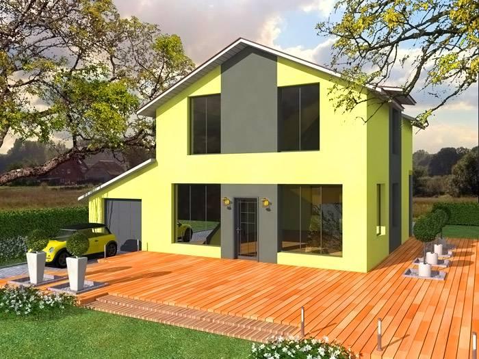 Проект двухэтажного коттеджа с мансардой