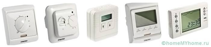 Термостаты отличаются определенным набором функций и дизайном