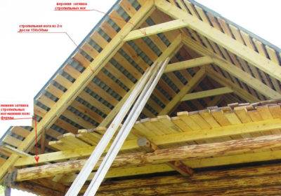 установка стропил двухскатной крыши своими руками видео