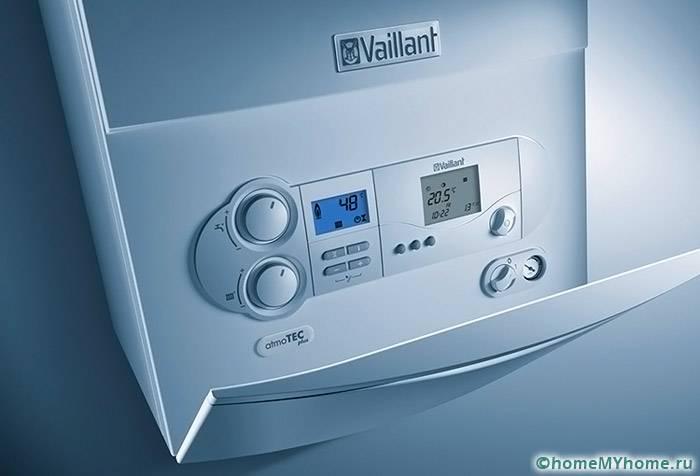 Электронная панель настенного котла Vaillant эстетична и функциональна