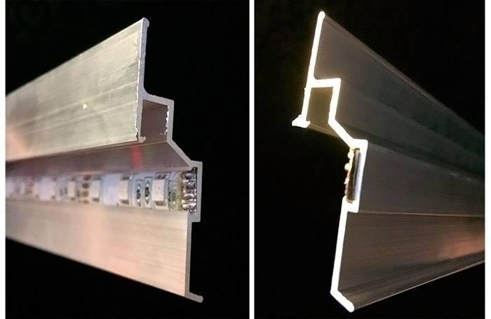 Специальная полупрозрачная вставка рассеивает свет и маскирует светодиодные вставки при размещении такого элемента на видном месте