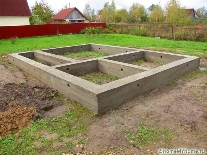 Ленточный фундамент для строения средних размеров