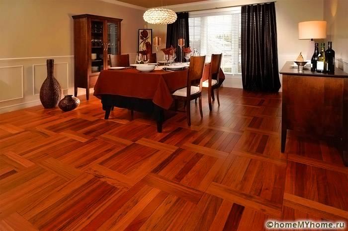 Важно подобрать покрытие, которое будет сочетаться с цветовой палитрой мебельных гарнитуров