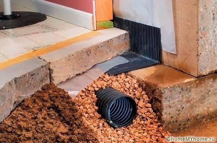 Эффективный дренаж необходим для длительной эксплуатации строения без лишних проблем