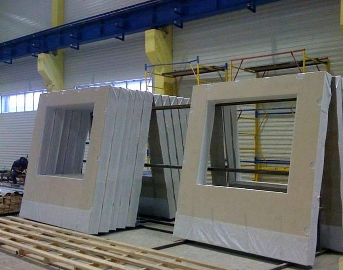 Панель на складе готовой продукции завода