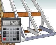 Калькулятор расчета удлинения стропил для формирования карнизного свеса