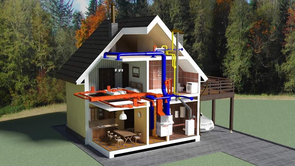 Подобный вариант подходит для построек за городом и дачных домов