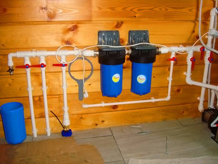 Водопроводная система снабжена специальными очистительными модулями
