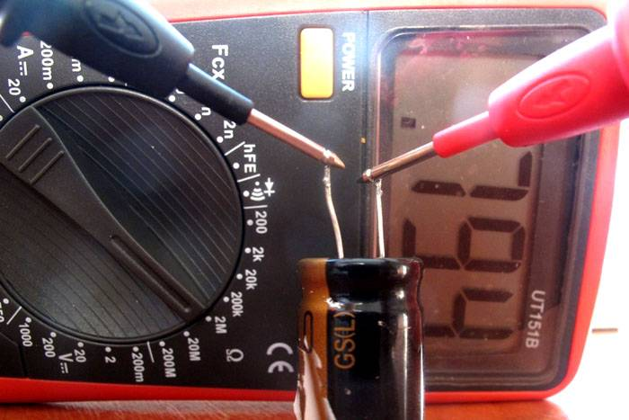 Измерение сопротивления в конденсаторе