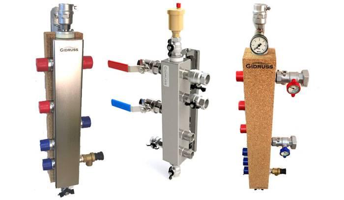 Гидрострелки при необходимости оснащают манометрами, вентилями и другими устройствами