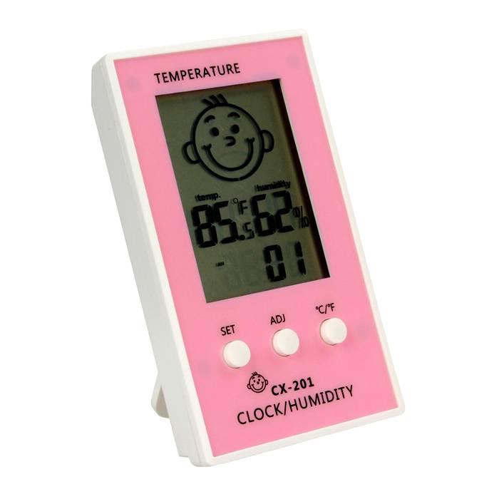 В комнате ребенка можно поставить отдельный прибор для контроля влажности и температуры