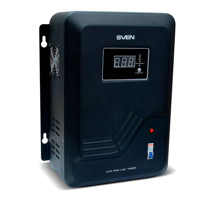 Стабилизационный прибор Sven AVR PRO LCD 10000