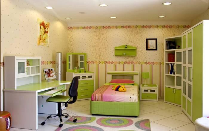 Точечные светильники в интерьере детской комнаты
