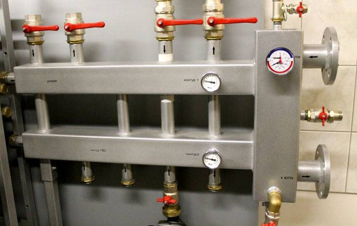 Гидрострелка в едином блоке с коллектором