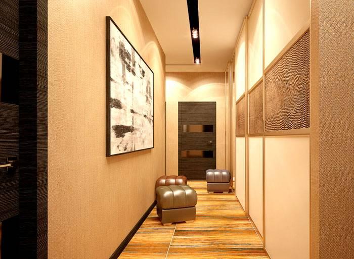 На этот потолок направляется только отраженный свет. Расширение пространства обеспечивает гармонично подобранная цветовая гамма