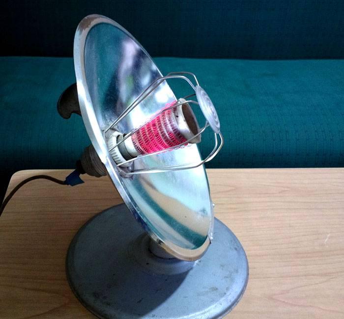 Устаревшая конструкция рефлектора с открытой спиралью