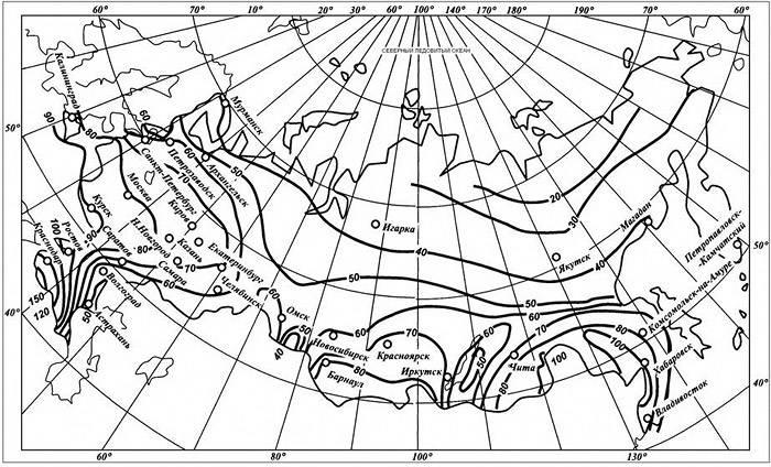 С помощью представленной карты можно определить коэффициент q20
