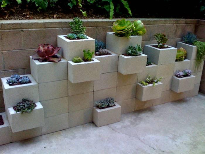 Оригинальные бетонные конструкции украсят укромный уголок сада