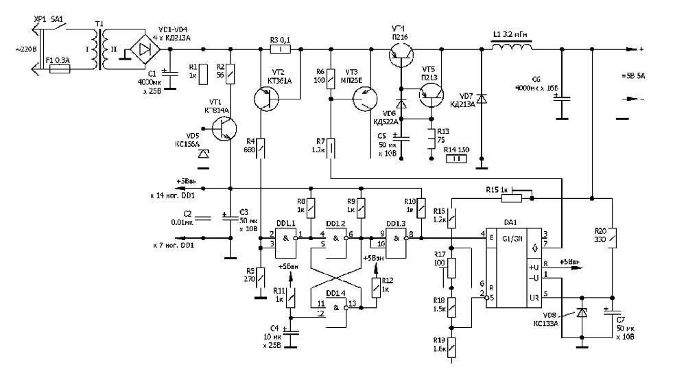 Схема релейного прибора