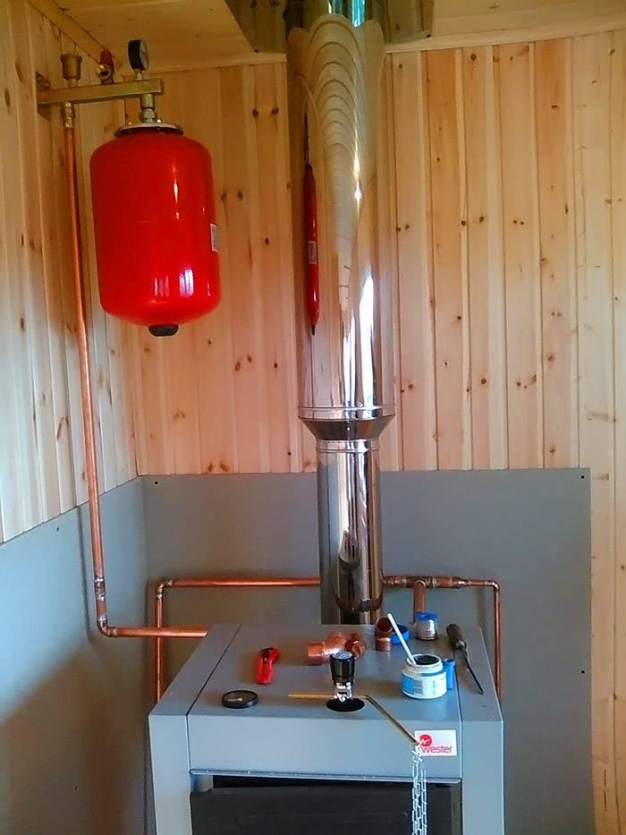 Подключение печи к общей системе отопления