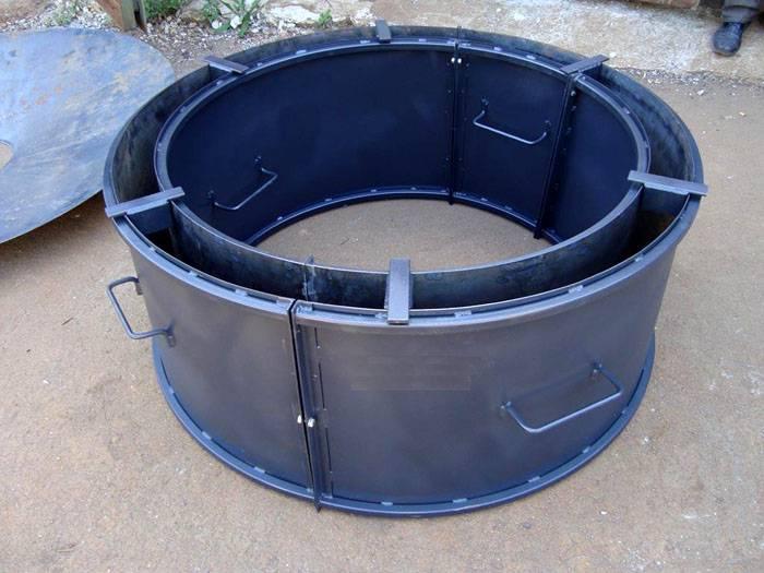 Готовые формы для бетонных клумб удобно снимать после использования