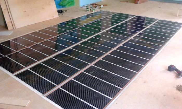 Монтаж инфракрасного напольного покрытия