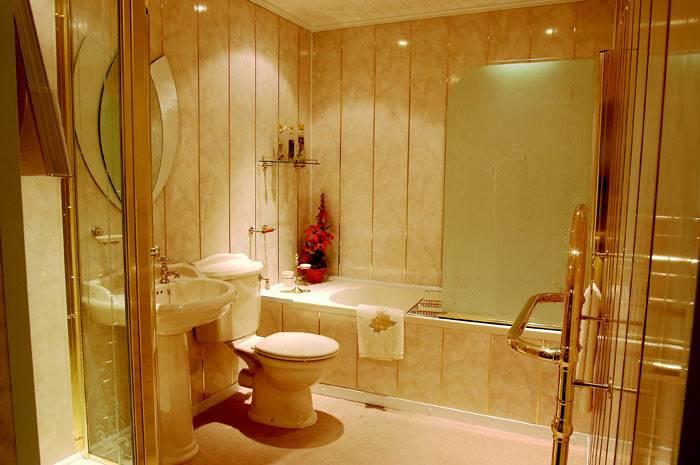 Использование панелей в ванной